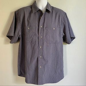 TravelSmith Short Sleeve Button Down Shirt Large